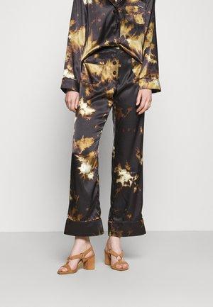 PYJAMA TROUSER - Trousers - black/brown