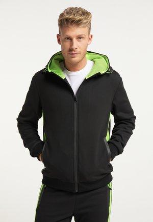 Zip-up sweatshirt - schwarz grün