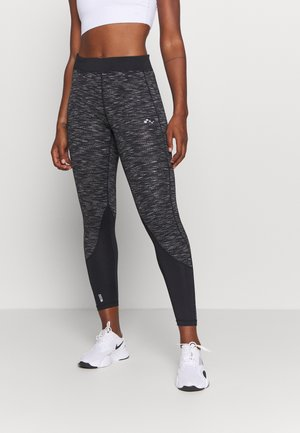 ONPSTACIA TRAINING - Leggings - black/dark grey melange