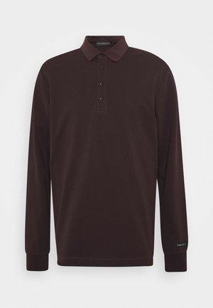 CHIC STRETCH LONGSLEEVE - Poloshirt - bordeaubergine