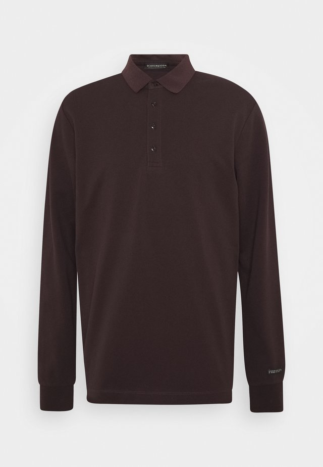 CHIC STRETCH LONGSLEEVE - Polo - bordeaubergine