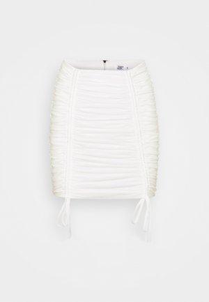 ZION SKIRT - Mini skirt - white