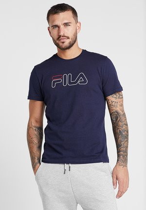 PAUL TEE - Print T-shirt - blackiris
