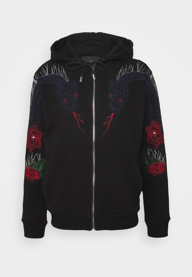 SEDDALIA - veste en sweat zippée - black
