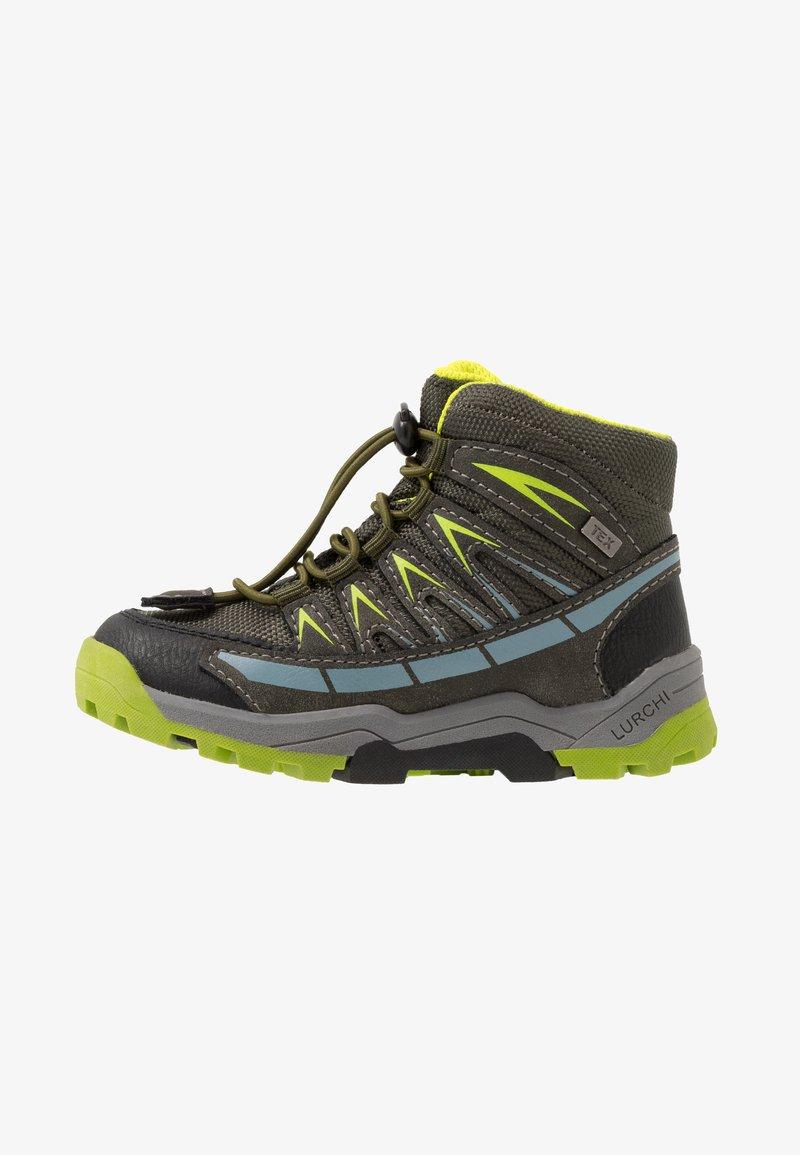 Lurchi - TRISTAN-TEX - Lace-up ankle boots - olive/citroen