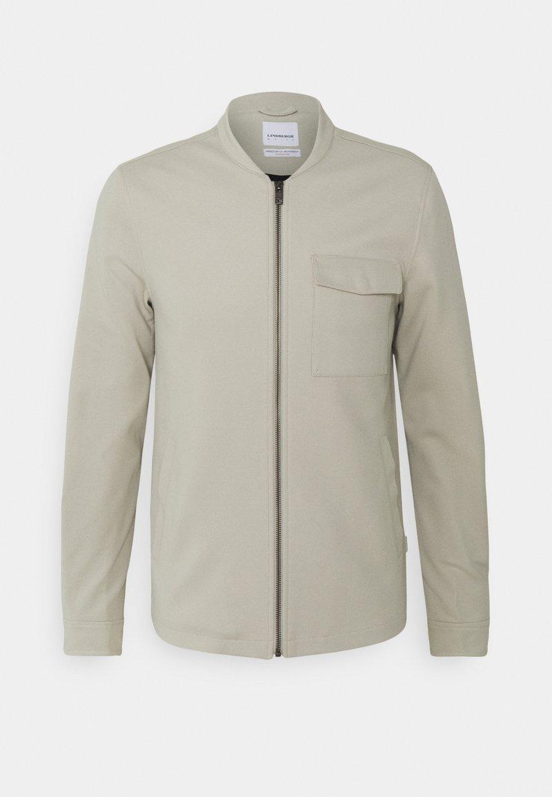Lindbergh - SUPERFLEX OVERSHIRT - Summer jacket - stone