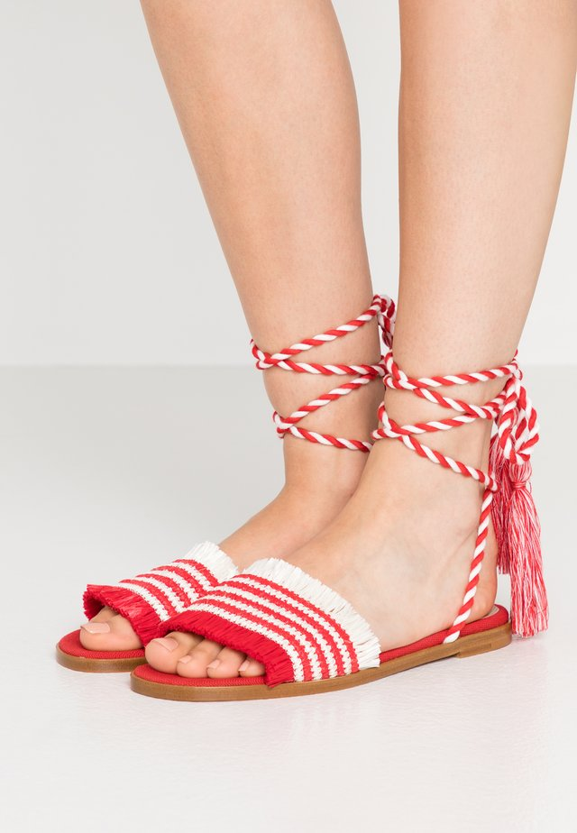 Sandály - red/white