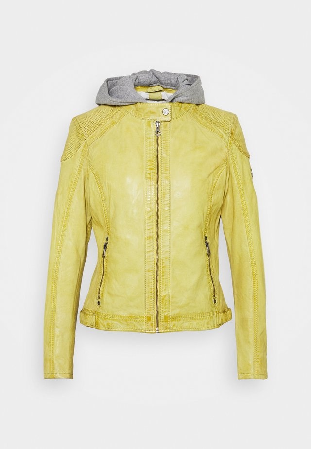 ABBY - Nahkatakki - pastel yellow
