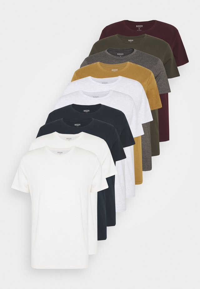 SHORT SLEEVE CREW 10 PACK - T-shirts - charcole/navy
