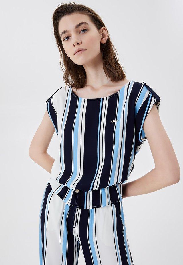Triko spotiskem - stripes blue