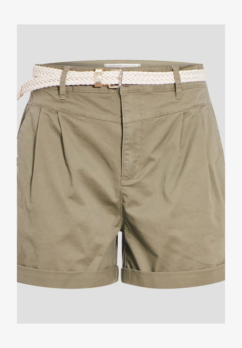 Cache Cache - MIT GÜRTEL - Shorts - vert kaki
