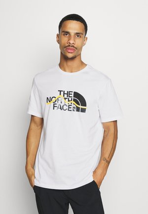 MOUNTAIN LINE TEE - T-shirt z nadrukiem - white/summit gold