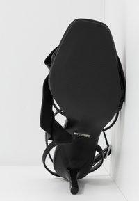 Topshop - ROSIE ANKLE TIE - High heeled sandals - black - 4