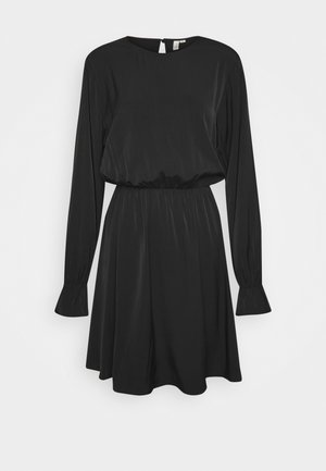 SOFT VOLUME DRESS - Korte jurk - black