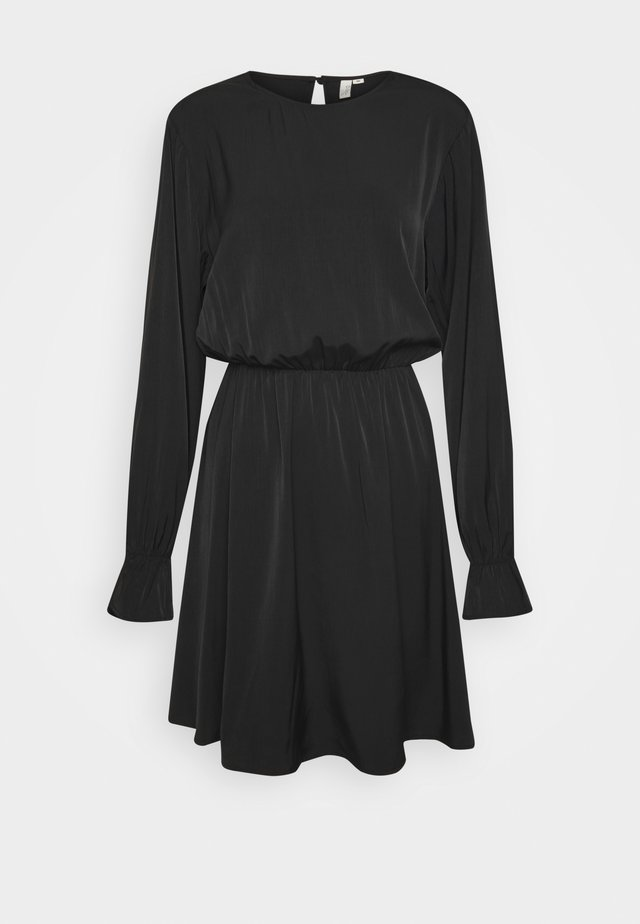 SOFT VOLUME DRESS - Korte jurk - black