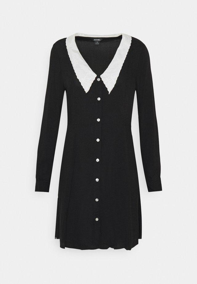 NOOMI DRESS - Skjortklänning - black