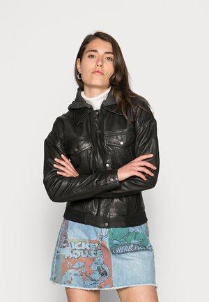RUBY - Leather jacket - black