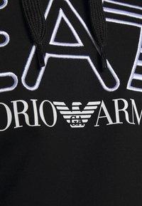 EA7 Emporio Armani - Felpa con cappuccio - black/white - 6