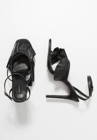 Topshop - ROSIE ANKLE TIE - High heeled sandals - black - 1