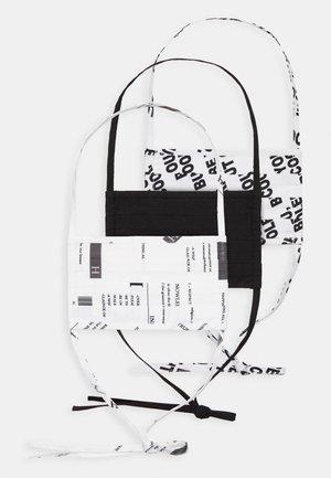 3 PACK - Látková maska - multi/white/black