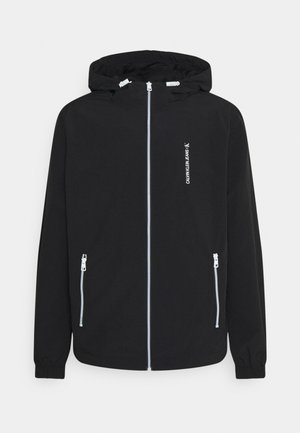 VERTICAL LOGO  - Summer jacket - black