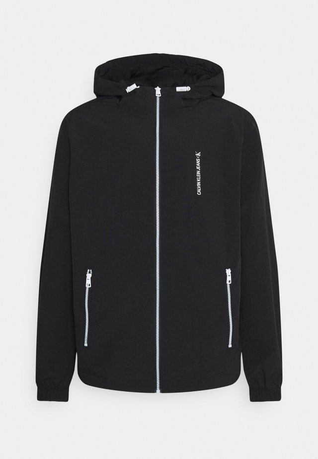 VERTICAL LOGO  - Summer jacket - black