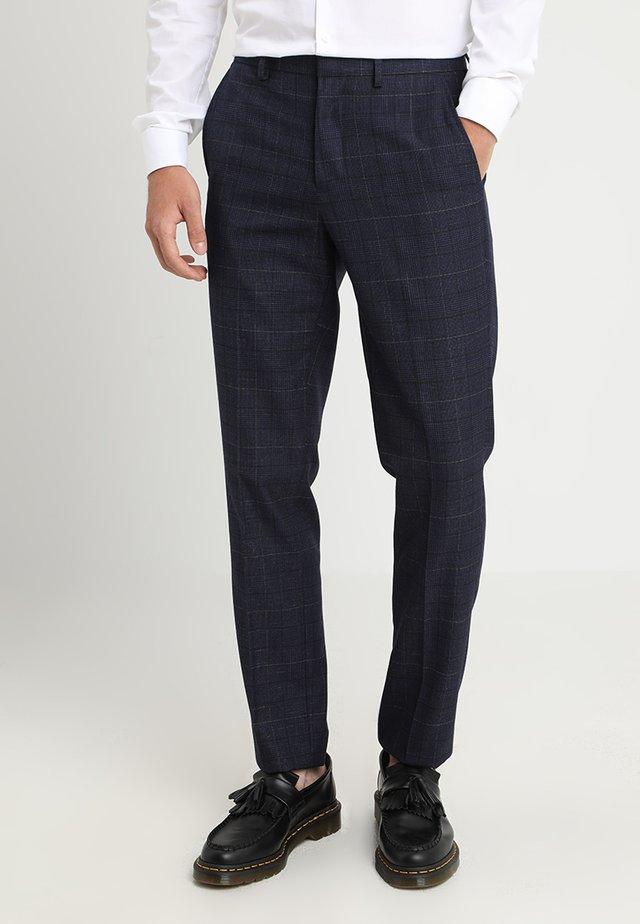 CHESNUT CHECK - Oblekové kalhoty - navy