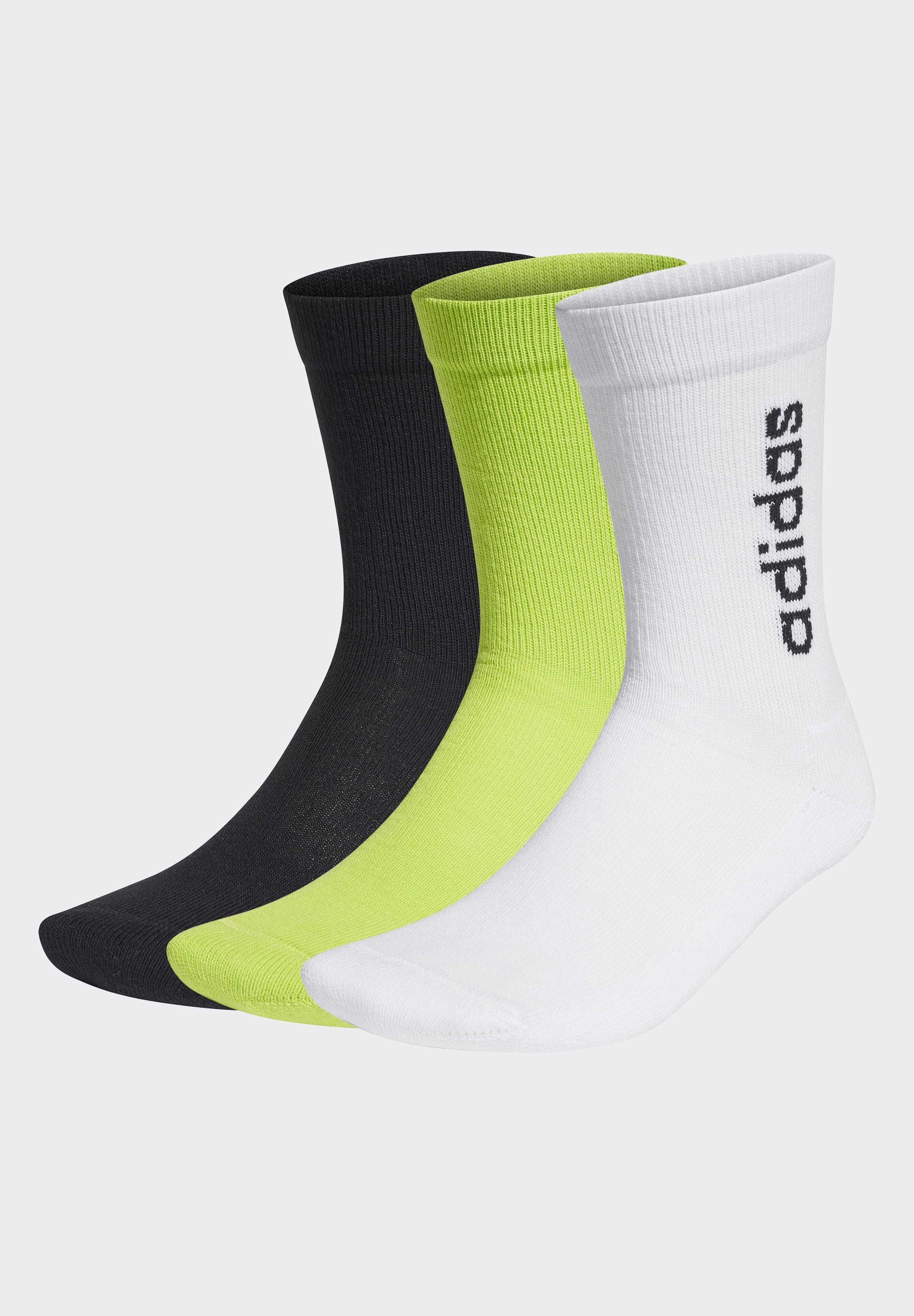 Adidas Performance Half-cushioned Vertical Crew Socks 3 Pairs - Sokker White