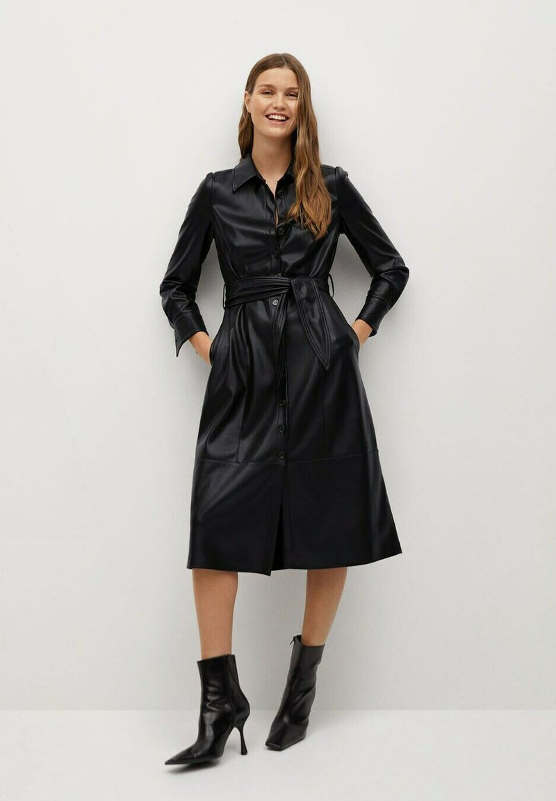 Mango - CINTIA - Shirt dress - schwarz