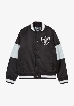 NFL OAKLAND RAIDERS VARSITY - Bomberjacks - black/field silver