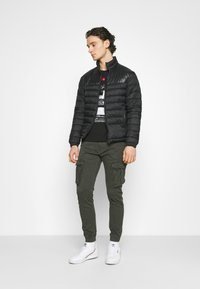 Alpha Industries - SPY PANT - Cargo trousers - greyblack - 1