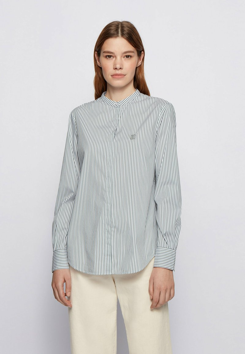 BOSS - BEFELIZE - Button-down blouse - light green