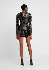 Miss Selfridge - SQUARE SEQUIN PLAYSUIT - Overal - black - 2