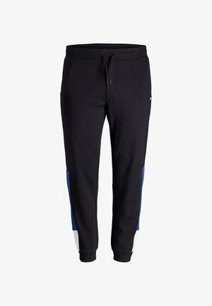 PLUS SIZE JOGGINGHOSE LOGOPRINT - Tracksuit bottoms - black
