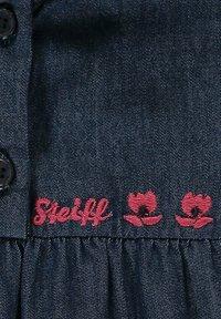 Steiff Collection - MIT LOGO- UND BLÜTENSTICKEREI - Denim dress - mood indigo - 2