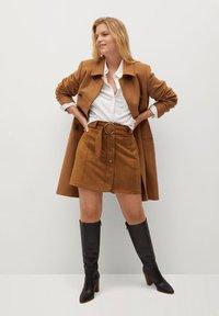 Violeta by Mango - SEVEN - A-line skirt - schokolade - 1