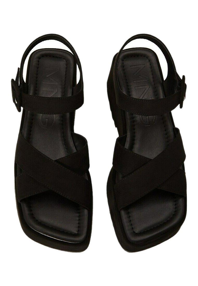 Mango - SPICY - Platform sandals - schwarz