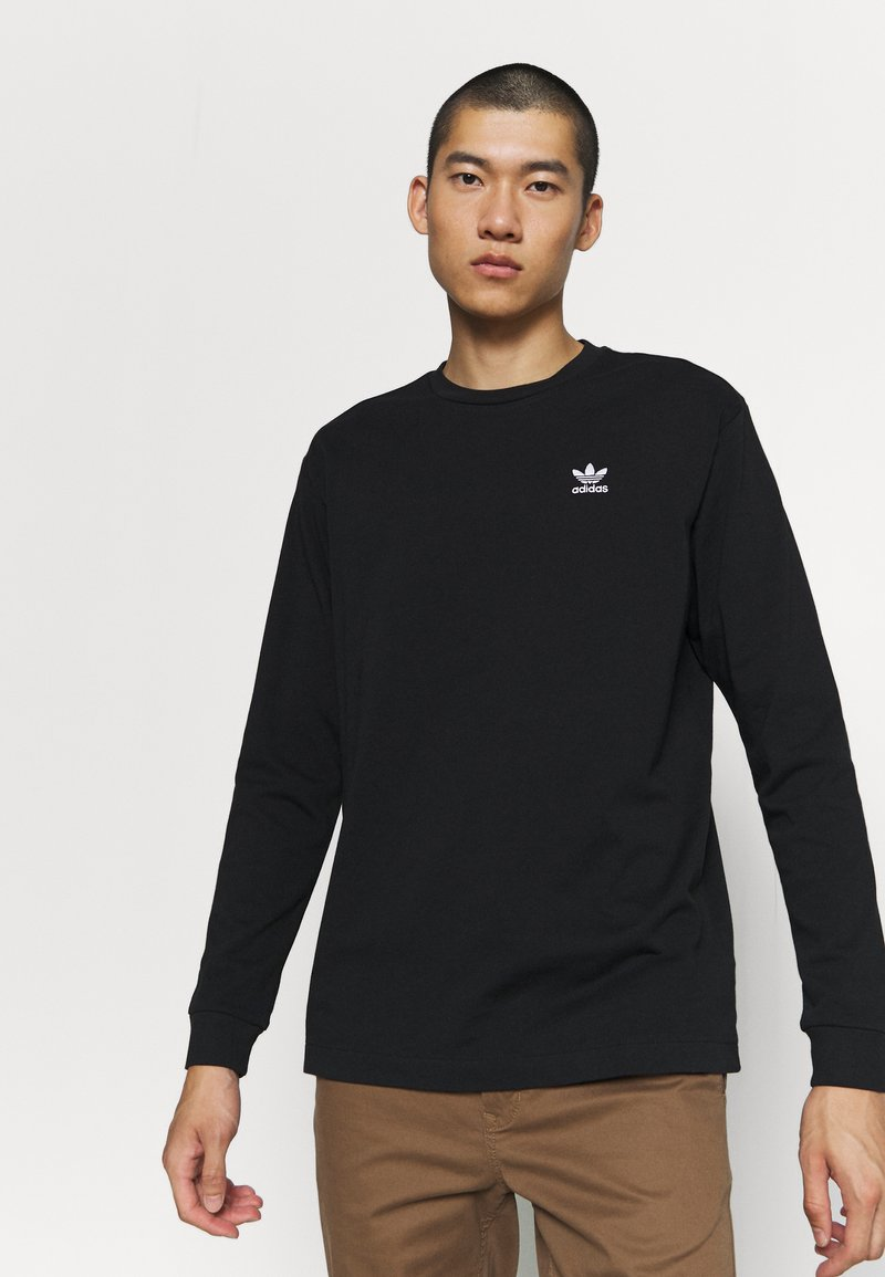 adidas Originals - Long sleeved top - black/white