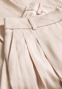 Topshop - SELF STRIPE WIDE LEG - Spodnie materiałowe - nude - 2