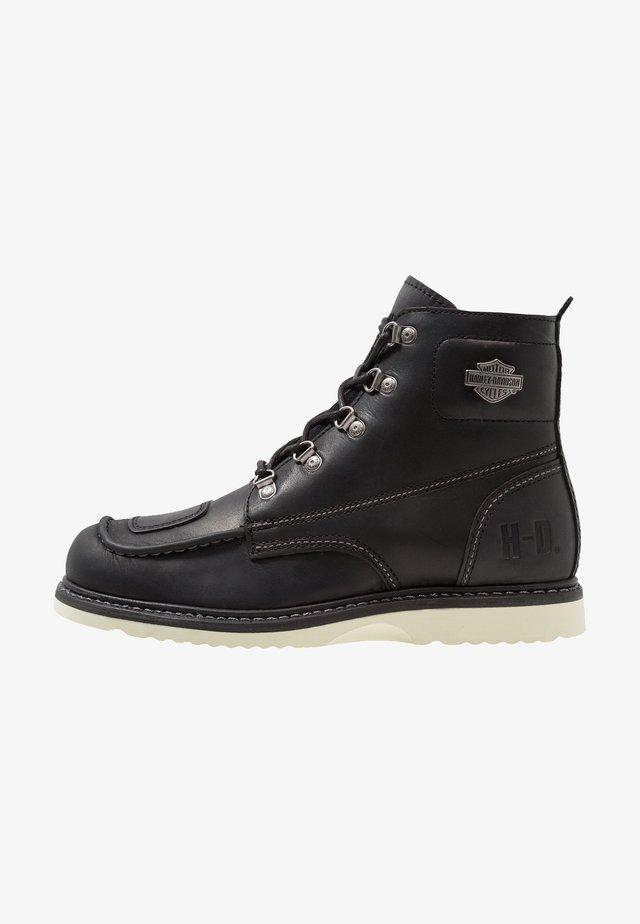 HAGERMAN - Cowboy/biker ankle boot - black