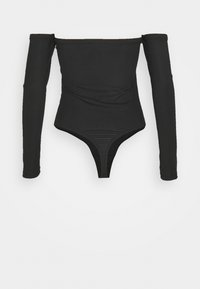 Missguided Tall - BARDOT BODYSUIT - Long sleeved top - black - 1