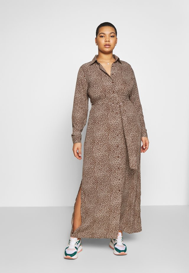 BELTED PAISLEY PRINT DRESS - Długa sukienka - brown
