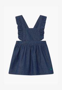 Benetton - DUNGAREE - Denim dress - blue - 0