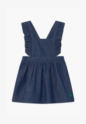 DUNGAREE - Denim dress - blue