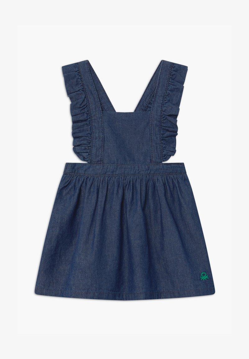 Benetton - DUNGAREE - Denim dress - blue