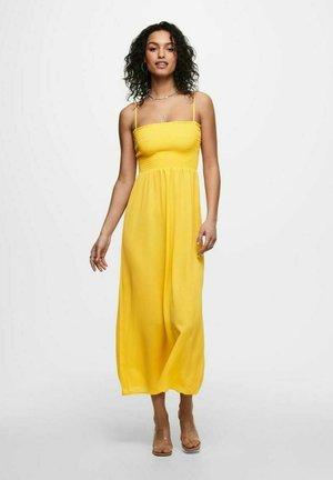 GESMOKTES - Maxi dress - yellow, apricot