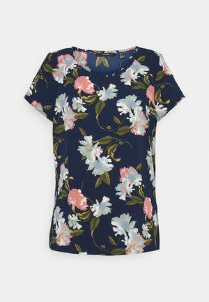 VMSAGA - Print T-shirt - navy blazer/fifia