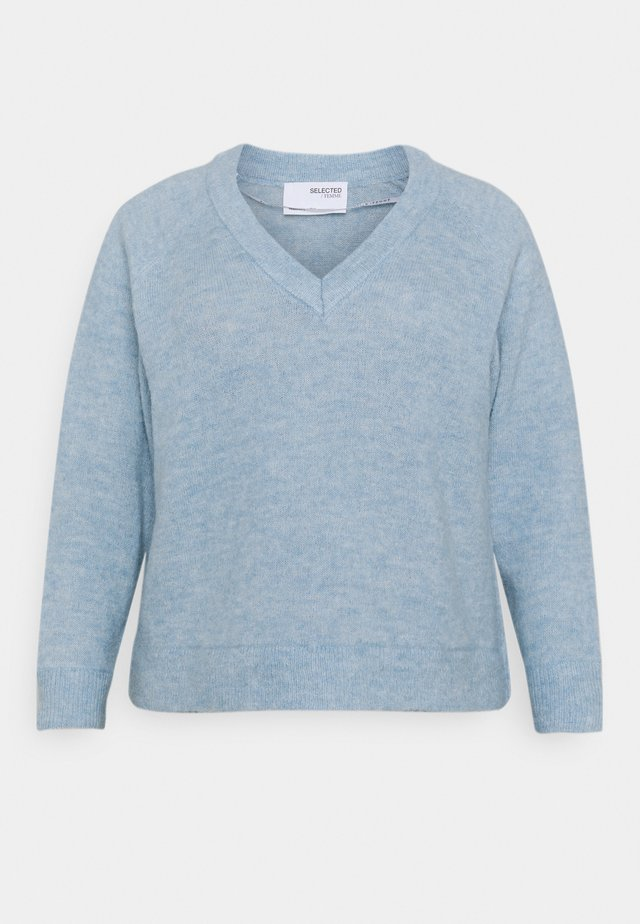 SLFLIA V NECK - Trui - blue