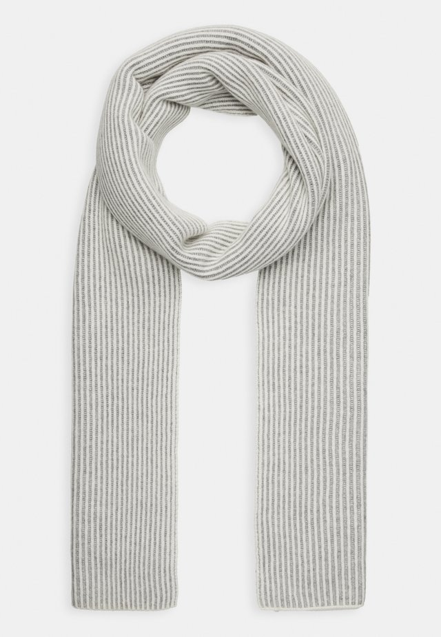SCARF - Šála - cream/grey