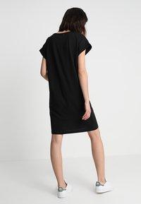 Moss Copenhagen - ALVIDERA DRESS - Jersey dress - black/white - 2